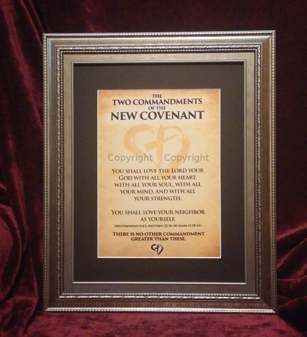 The Two Commandments of the New Covenant (Framed Print)